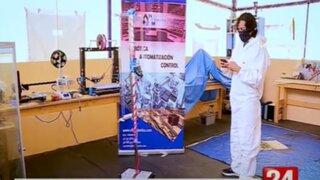 Ingeniero peruano creó robot que utiliza luz ultravioleta para desinfectar diversas superficies