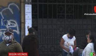 La Victoria: colocan carteles en edificio advirtiendo de contagiados con Covid-19