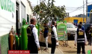 Cercado de Lima: Local vendía oxígeno industrial como medicinal