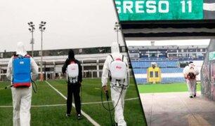 Alianza Lima: Comando Sur desinfectó estadio de Matute