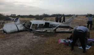 Tumbes: avioneta con bandera ecuatoriana cayó en territorio peruano