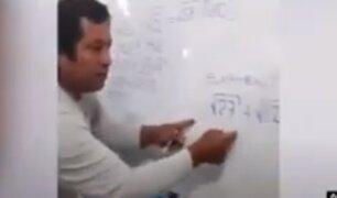Profesor peruano de matemáticas se hace viral por su enseñanza en TikTok