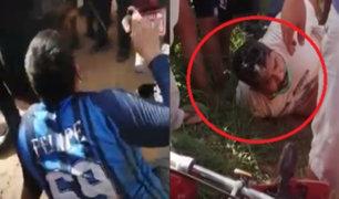 Pucallpa: vecinos frustran robo de dos delincuentes y los golpean