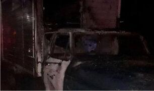 Incendian camioneta de comerciante infectado con Covid-19