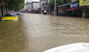 Centro y sur de China golpeados por intensas precipitaciones