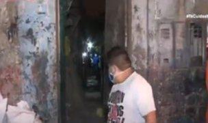 Cercado de Lima: familia escapa antes de que su vivienda colapse