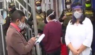 Comerciantes de Gamarra exigen ingresar a sus tiendas para tirar mercadería