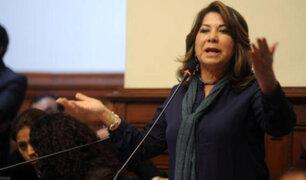 "Martha Chávez responde a Fuerza Popular por expresiones ""racistas"" a Zeballos"