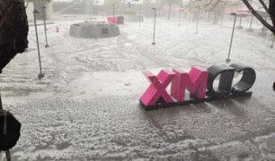 Caída de granizo cubrió de blanco algunos sectores de Ciudad de México