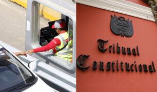 Tribunal Constitucional admite a trámite demanda contra ley que suspende cobro de peajes