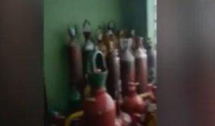 Santa Anita: Polícia interviene local que vendían oxígeno industrial