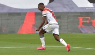 Luis Advíncula marcó el primer gol del reinicio del fútbol español