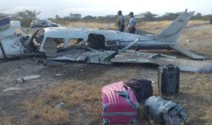 Expulsan a ecuatorianos que viajaban en avioneta siniestrada en Tumbes