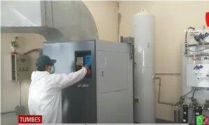 Tumbes: Planta de oxígeno beneficiará a 131 hospitalizados por coronavirus