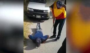 Cajamarca: ronderos castigan a conductores indocumentados