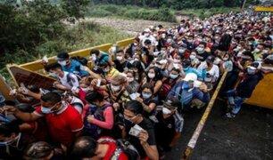 Gran aglomeración de Venezolanos que buscan retornar a su país se vive en frontera con Colombia