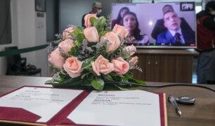 Arequipa celebró el primer matrimonio virtual en tiempos de coronavirus
