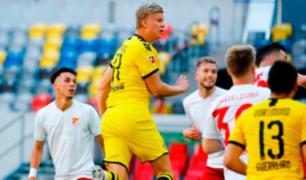 Haaland le dio la victoria y la vida al Dortmund hacia el final de la Bundesliga