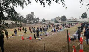 Toman pruebas de descarte a ambulantes que ocuparán parque zonal Huayna Cápac