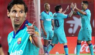 Barcelona goleó al Mallorca en el regreso de LaLiga