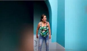Chosica: mujer ataca a policías que fueron a defenderla