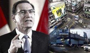 Presidente Vizcarra: El miércoles se aprobará reapertura de conglomerados comerciales