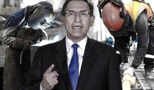 Gobierno anuncia programa 'Arranca Perú' para más de un millón de puestos de trabajo