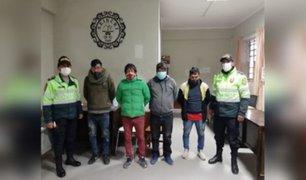 Huancayo: detienen a sujetos inmersos en robo de inodoros y lavamanos de hospital en construcción