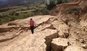 Áncash: falla geológica afecta carreteras y terrenos agrícolas