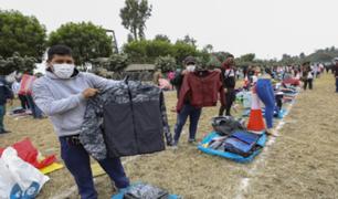Más de 1000 comerciantes se instalaron en el parque zonal Huayna Cápac