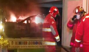 Se registró incendio en un colegio de Jesús María durante toque de queda