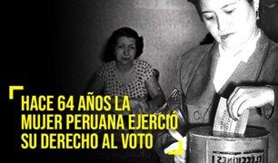 64 años del día en que las mujeres peruanas conquistaron su derecho al voto