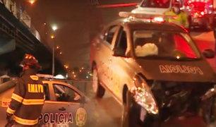 Patrullero choca tras persecución de delincuentes en el Rímac