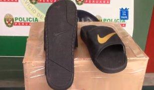 Los Olivos: intervienen fábrica donde falsificaban calzados de reconocidas marcas