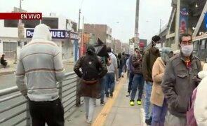 Metro de Lima: se registran largas colas en exteriores de la estación Bayóvar