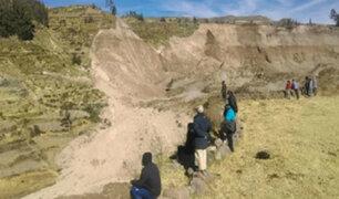Arequipa: al menos 68 damnificados tras deslizamientos de tierra en valle del Colca