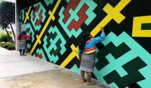 Municipalidad de San Isidro se pronunció tras borrado de mural realizado por comunidad shipibo-conibo