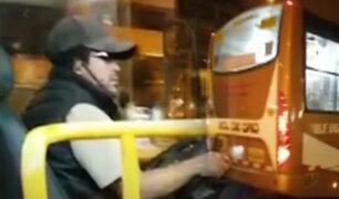 Los Olivos: pasajero discute con conductor de bus por no usar mascarilla