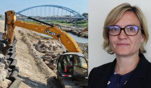 Embajadora británica Kate Harrisson da detalles sobre reconstrucción del norte