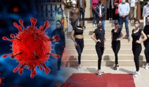 En plena pandemia realizan desfile  pese a situación crítica de Trujillo