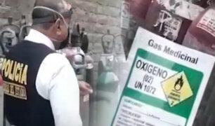 San Luis: intervienen local donde adulteraban balones de oxígeno