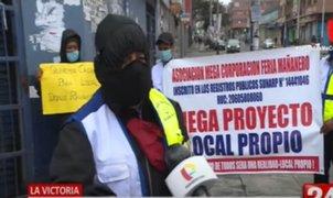"""La Victoria: Grupo de ambulantes """"Los Mañaneros"""" piden ser formalizados para continuar trabajando"""