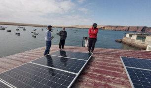 Instalan paneles solares en muelle de pescadores de Pisco