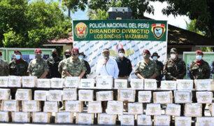 Región Junín: decomisan  tonelada y media de droga en Mazamari