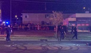 """EEUU: tiroteo en """"fiesta vecinal"""" deja 2 muertos y 7 heridos"""