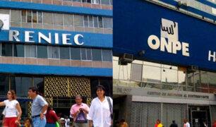 Este jueves se conocerá lista de postulantes para jefes de ONPE y Reniec