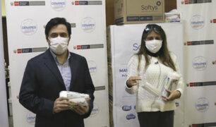COVID-19: donan tres millones de mascarillas al Ministerio de Salud