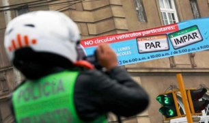 Plan de pico y placa regresará tras levantamiento de cuarentena, según Jorge Muñoz