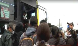 Paro de transportistas: vehículos informales aparecen y generan aglomeraciones