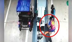 Tarapoto: cámara capta el momento que asaltan a un grifero en pleno toque de queda